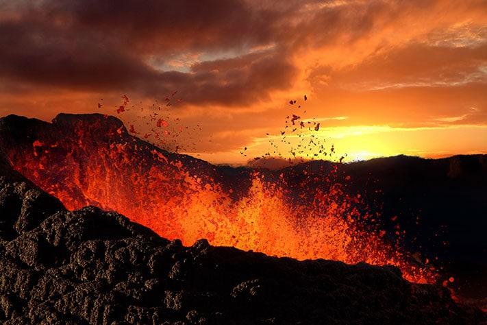 Vulkanske kjemper skapte glødende inferno