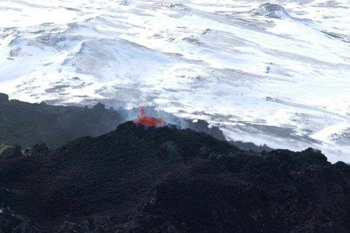 En vulkan – i levende live