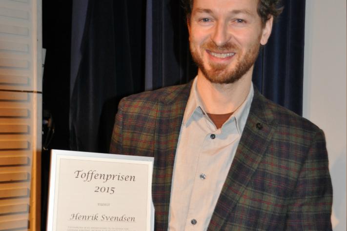 Toffenprisen til Henrik Svensen