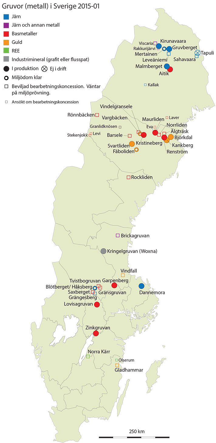 Nytt Kart Over Svenske Gruver Geo365