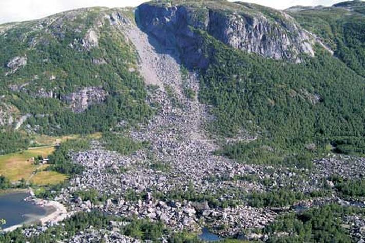 Gåtefullt fjellskred