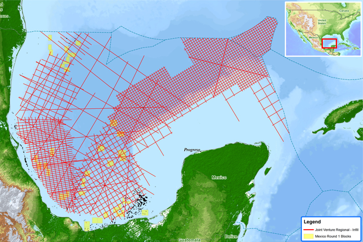 Mega-survey offshore Mexico