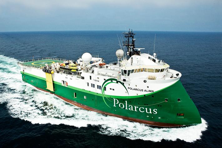 Polarcus skyter i Barentshavet