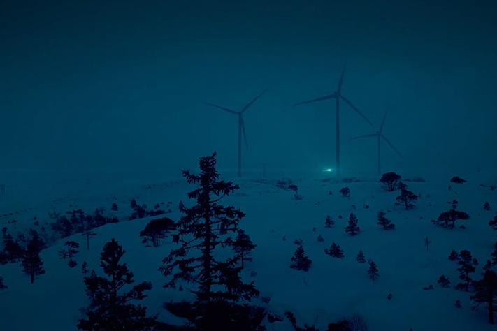 Norges største vindturbin i drift