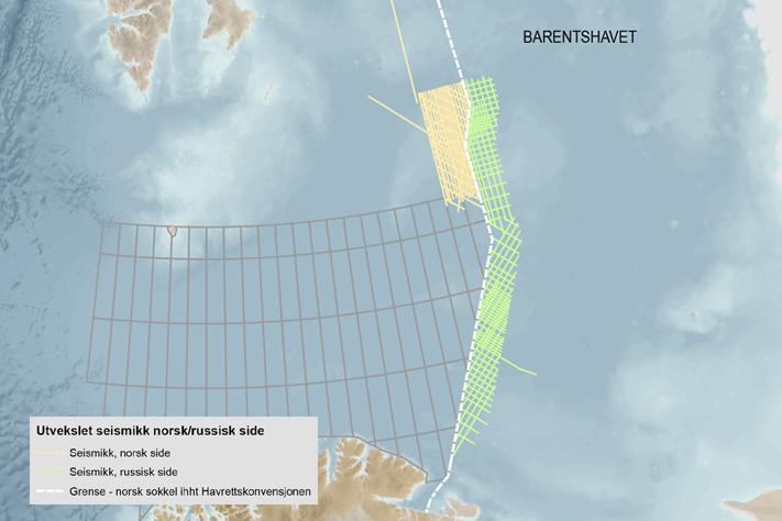 Utveksler data i Barentshavet