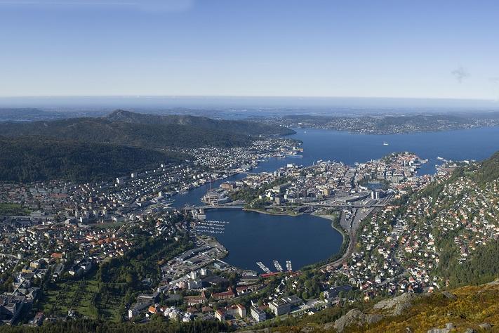 Bergen blir lavere