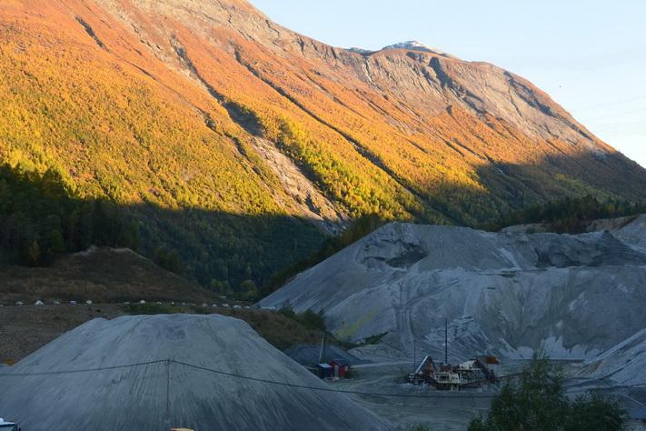 Bergindustrien i fall