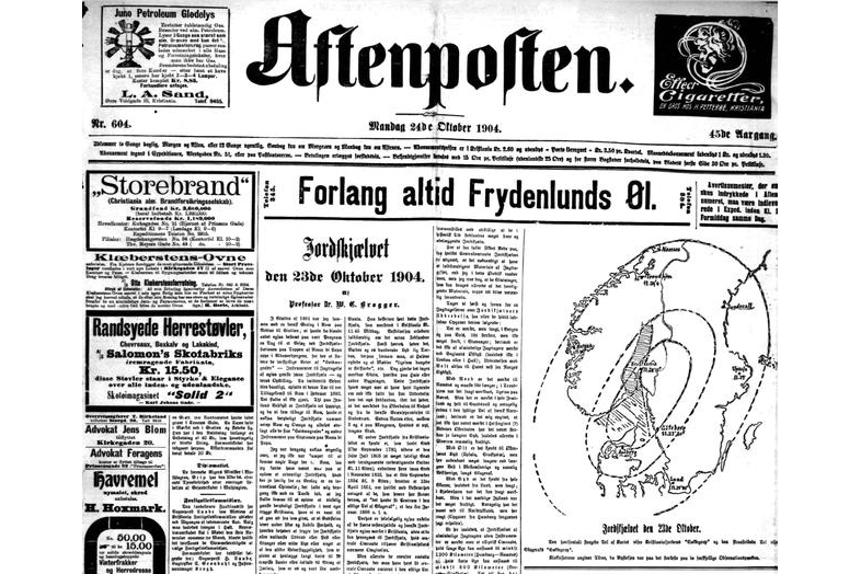 113 år siden Oslo-skjelvet