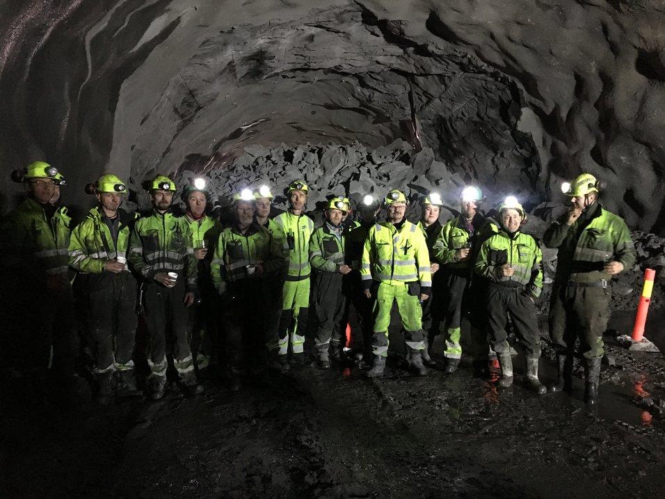 Gjennomslag i Tjernfjelltunnelen