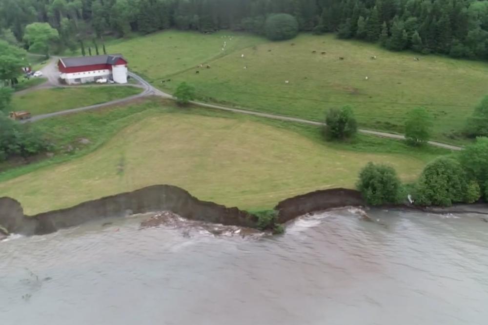 Massivt jordskred i Trøndelag