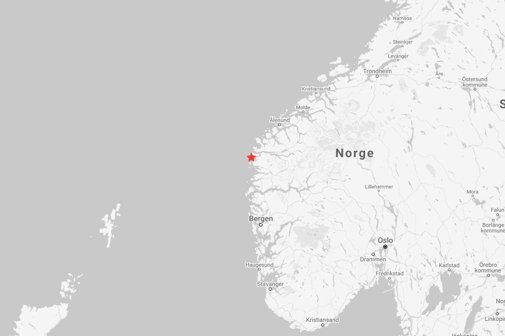 Jordskjelv utenfor Måløy
