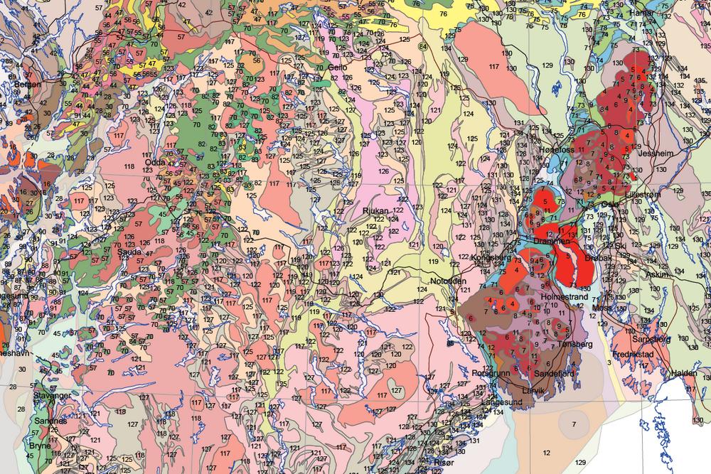 Nytt geologisk Norgeskart
